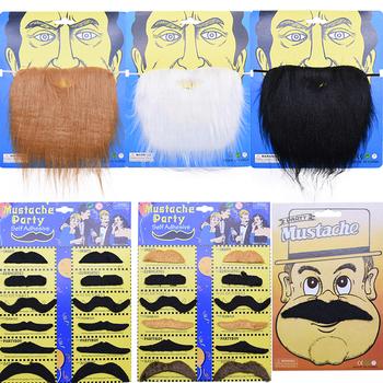 Śmieszne Halloween Cosplay Pirate Party sztuczna broda impreza przebierana wąsy Decor fałszywe wąsy dla dzieci dekoracje dla dorosłych rekwizyty fotograficzne tanie i dobre opinie YONGSNOW CN (pochodzenie) CG042-24 1 pc