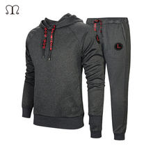 Two Piece Set Mens Tracksuit Mens Sportswear Chandals Para Hombres Mens Sweat Suits Men Pants Hoodie Set Brand Fitness Clothing(China)