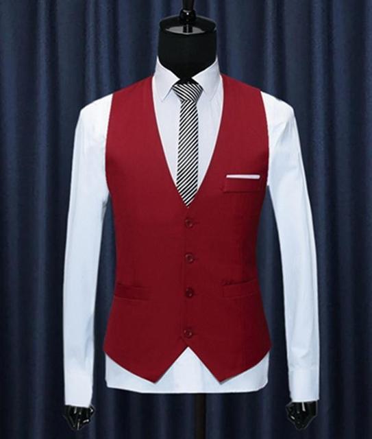 Men's vest British Style Slim Colete Masculino Cotton Sleeveless Jacket Waistcoat Men Suit Vest