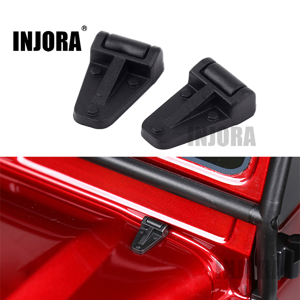 2PCS Black Plastic Engine Cover Hinge for 1:10 RC Crawler Traxxas TRX-4 TRX4 aluminum water cool flange fits 26 29cc qj zenoah rcmk cy gas engine for rc boat