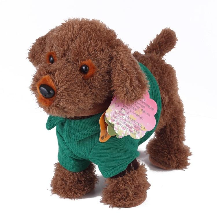 30cm Music Dog Walking Instruction Intelligent Action Electronic Pet Plush Soft Doll Animal Stuffed Toy For Kids Christmas Gift