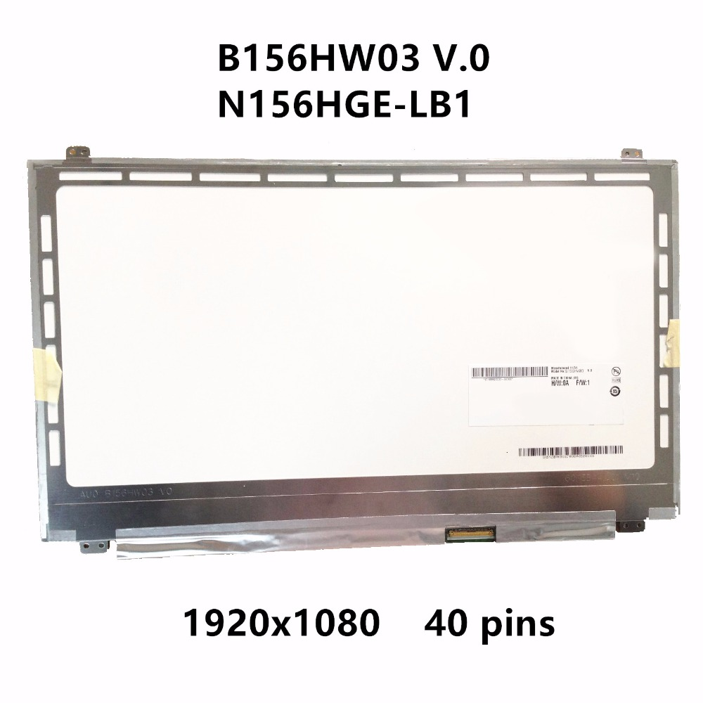 15.6''Laptop LCD Screen Panel Display Matrix B156HW03 V.0 B156HTN02.1 N156HGE-LB1 N156HGE-LA1 B156HTN03.2 For Dell XPS 15z L511Z стоимость