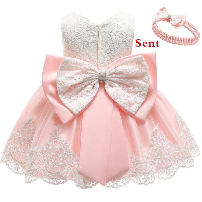 Baby Dress Sequin Lace Flower Christening Gown Baptism Clothes Newborn Kids Girls Birthday Princess Infant Party Costume(China)