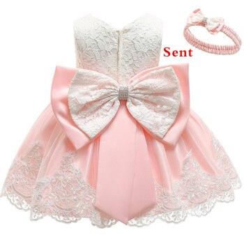 0c1838516 Bebé vestido de lentejuelas de encaje vestido de bautizo bautismo recién  nacido Ropa niños niñas cumpleaños princesa infantil traje de fiesta