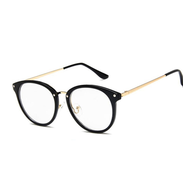 e634b8508b3f 2018 Oversized Clear Lens Glasses Men Women Retro Metal Frame Eyeglasses  Transparent Optical Cat Eye Glasses