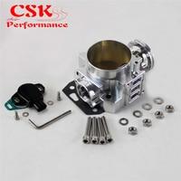 70mm Throttle Body/ TPS Throttle Position Sensor Fits For Honda K20 /Civic/ EP3/ Type R/Integra DC5 Black / Silver