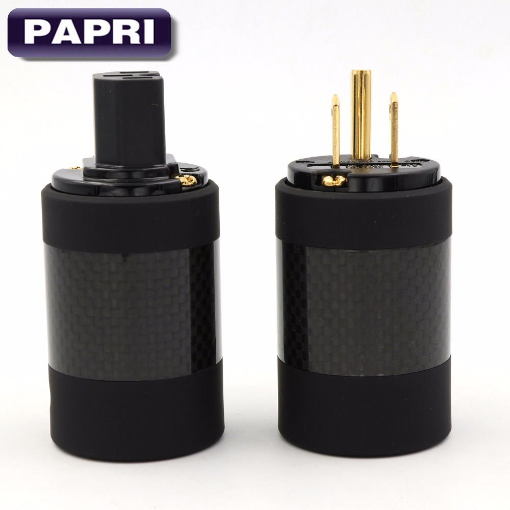 MPS 1PCS Hades M and Hades W US Standard Male and Female USA STANDARD AC POWER SOCKET CONNECTOR For Audio HIFI DIY CD Tube Amps hifi mps m 9 99 9999