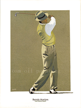 Spray Painting Impressional Portrait Bernie Horton Figure Oil On Canvas Wall Art Decorative Man Play Golf Print Picture