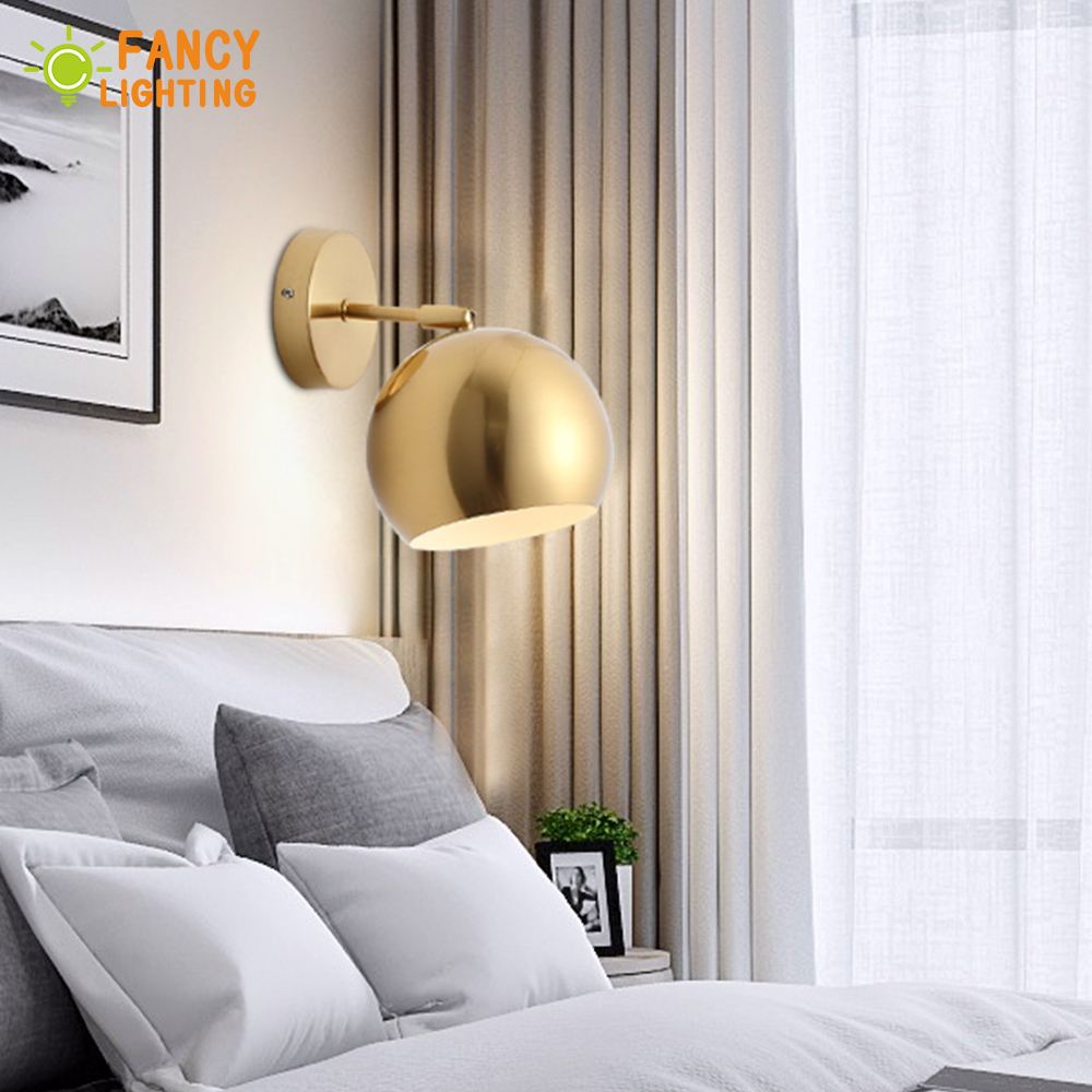 (bulb For Free) Modern Wall Lamp Iron Adjustable Angle Wall Sconces For Home/bathroom/bedroom/living Room Decor Led Wall Light