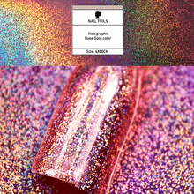 Rose gold galaxy hoho nail Rainbow chrome nail Nails Transfer Foils
