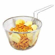 Nueva Freidora Cesta Caliente Herramientas de Cocina Fácil de Freír Papas Fritas Francés Merienda Porción de Presentación de Alimentos Cestas Con Mango