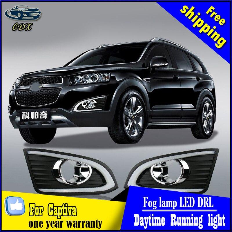 Car styling For Chevrolet Captiva LED DRL For Captiva High brightness guide LED DRL led fog lamps daytime running lights пылесос zelmer zvc762zpru с мешком сухая влажная уборка 1500вт серо оранжевый vc7920 5sp