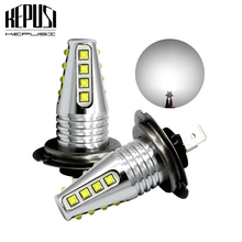 2X H7 Car LED Light Fog Auto Car Motor Truck Canbus 80W  High Power cree chip DRL Day running light Driving lamp White 12V 24V free shipping h7 80w high power cob led car auto drl driving fog tail headlight light lamp bulb white 12 24v