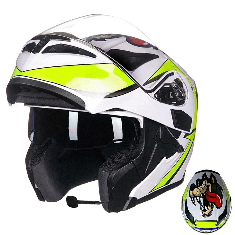 Image 3 - GXT Motorcycle Protective Gears Helmets ECE dot for waterproof bluetooth helmet casque moto Washed Inner Flip Up MOTO helmet-in Helmets from Automobiles & Motorcycles