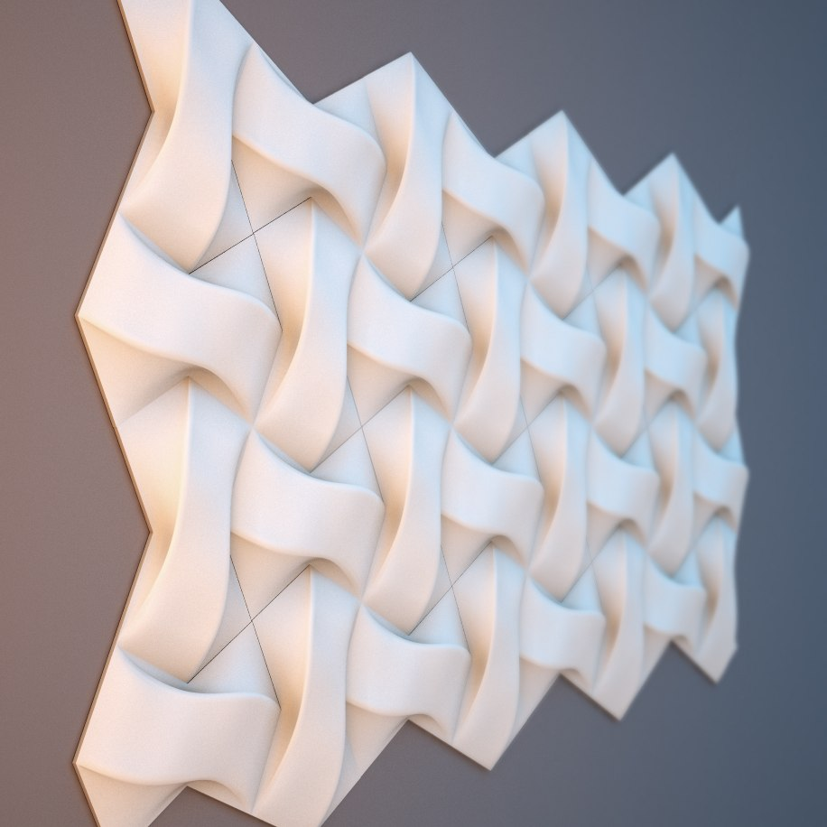 wall panel 6 3d model relief for cnc in stl file format