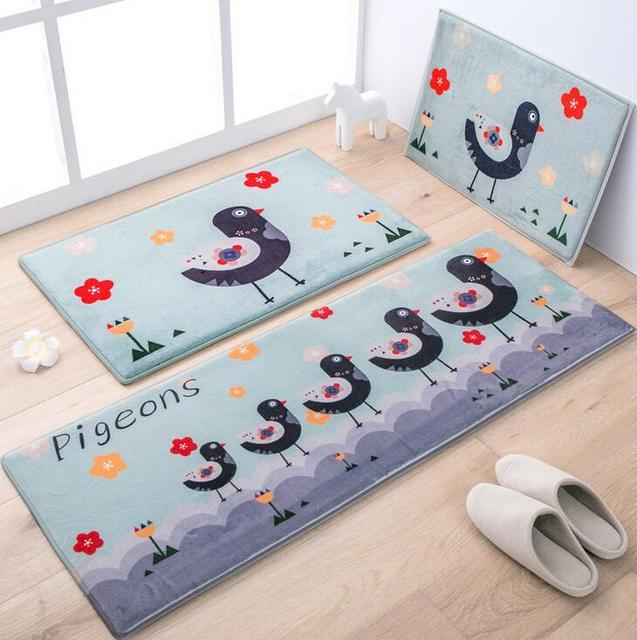 Mdct cartoon uil duiven paard patroon carpet kussen tapijt badkamer ...