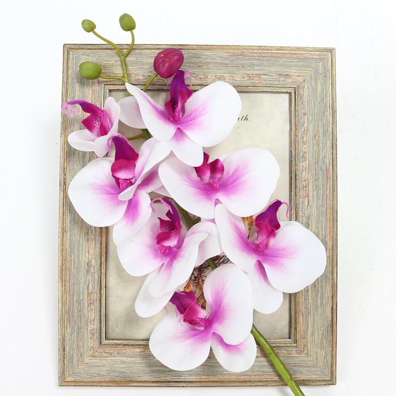 Lule Orkide Artificiale Prekja e Vërtetë Butterfly Artificial - Furnizimet e partisë - Foto 2