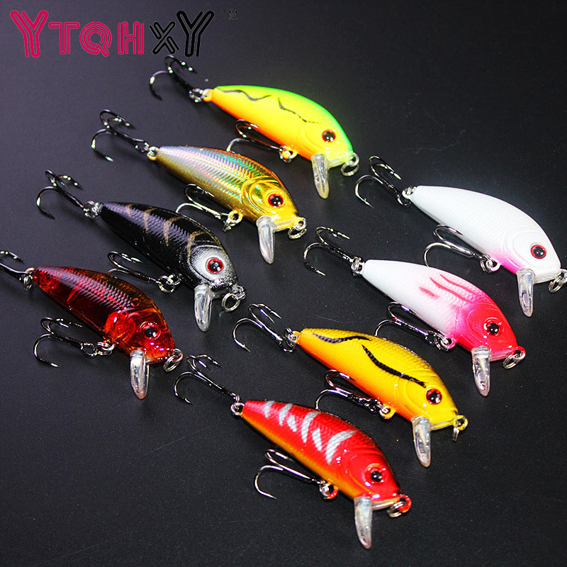 5cm 3.5g Swim Fish Fishing Lure Artificial Hard Crank Bait topwater Wobbler Japan Mini Fishing Crankbait lure YE-204