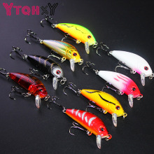YTQHXY topwater Fishing Lure 5cm 4g Artificial Hard Bait Wobbler Spinner Japan Mini Crankbait Carp fishing YE-204