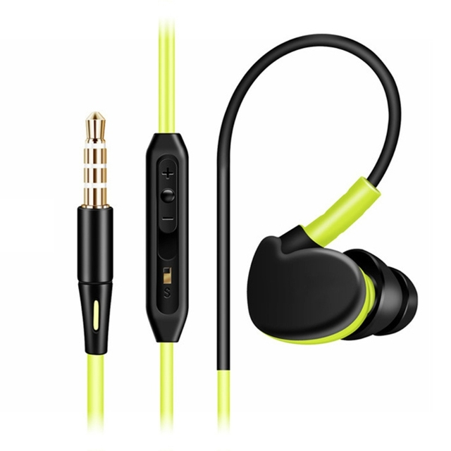 1 Pc 3.5mm Stereo In-Ear Earbud Consumer Electronics Sports Line Type  Earphone With Mic For Mobile Phone