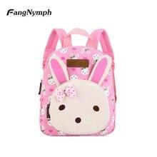 FangNymph 2018 New Lovely Kids School Backpack Canvas Backpacks Mini Baby  Toddler Book Shoulder Bag Kindergarten ec3f81ca8f5dd