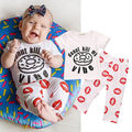 2pcs Newborn Toddler Infant Baby Kid Girl 0-3Y Clothes T-shirt Tops+Long Pants Outfit Set Clothes