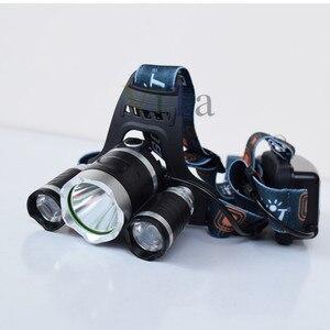 Image 4 - 3 Led scheinwerfer 8000LM XM L T6 UV Led scheinwerfer 395nm Uv Wiederaufladbare stirnlampe lampe frontale 18650 Ladegerät