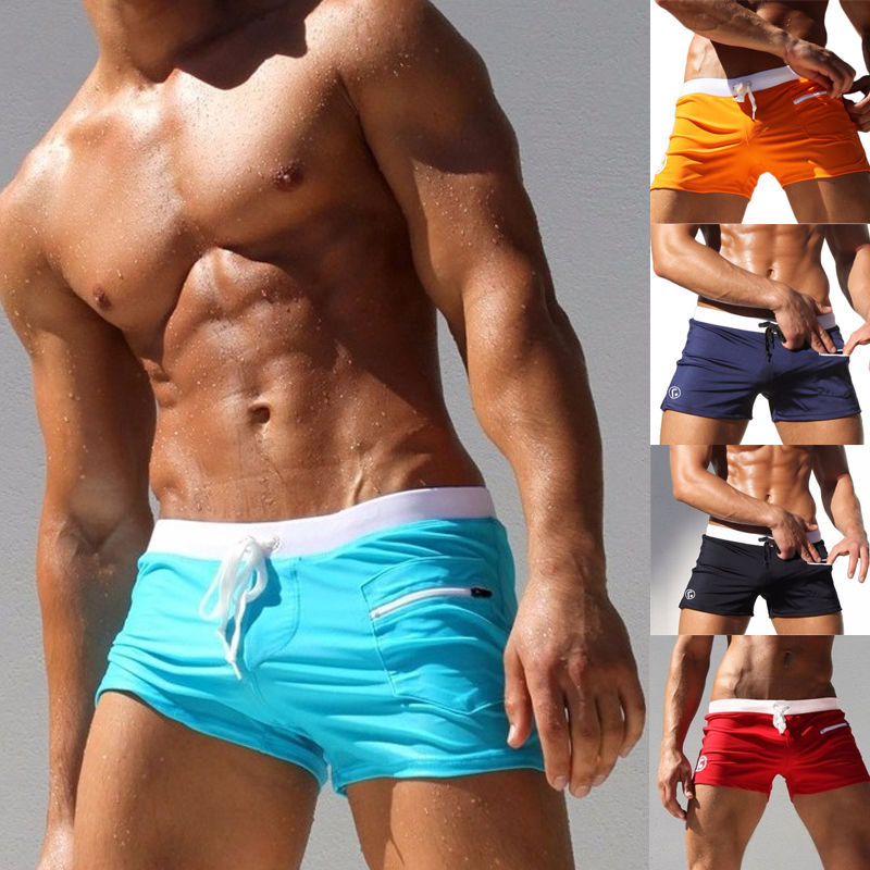 Mens Boxer Swim Briefs Summer Beach Swimming Shorts Trunks Swimwear Pants Underwear