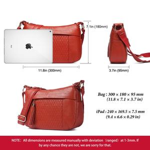 Image 4 - KAVIS 100% genuine leather women shoulder bag female high quality messenger handbag lady designer high qualiity Brand crossbody