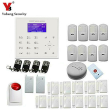 YobangSecurity WiFi GSM GPRS Home Burglar Fire Alarm System Wireless Siren IOS Android APP With Smoke Fire Vibration Detector