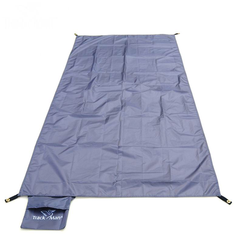 Camping Folding Mat i papërshkueshëm nga uji 2 persona Mats ultratinguj të lagur me lagështirë tendë lagështi-pluhur pads në natyrë piknik Udhëtimi gri 165g