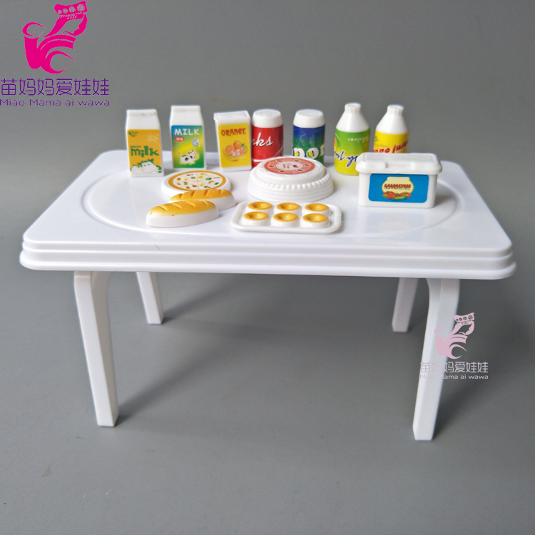 Mininature Simulation for 1/6 dolls accessory dinner table bottle cake for barbie doll for monster high dolls house play toy