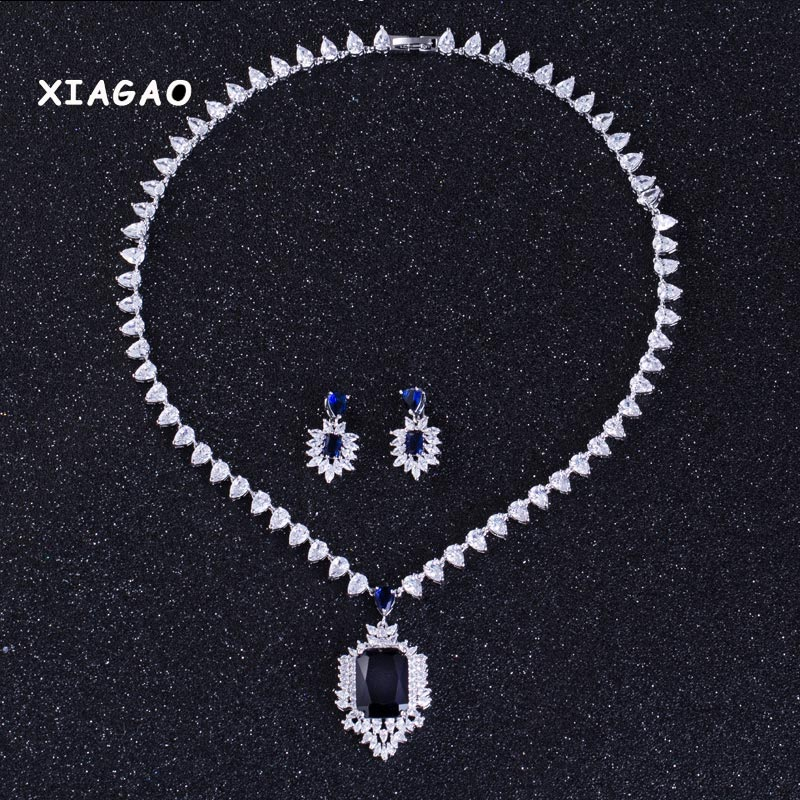 XIAGAO brand New arrival fashion luxury marquise shape jewelry set with bracelet high quality party/wedding jewelry for women