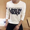 Hot Sale 2017 New Fashion Brand O-Neck Trend Long Sleeve T Shirts Men Slim Fit  High-quality Casual Men T-Shirt 5XL (sweater)