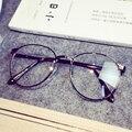 New Retro Antigo Rodada Limpar Lens Armações de Óculos Quadros Masculinos óculos Full Frame de Metal Cinza para As Mulheres Vidros Ópticos oculos UV