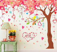 2016 New Large 360*200Cm DIY Cherry Blossoms Tree Wall Sticker For Marriage Room Living Rooms Decor Removable PVC Wall Stickers
