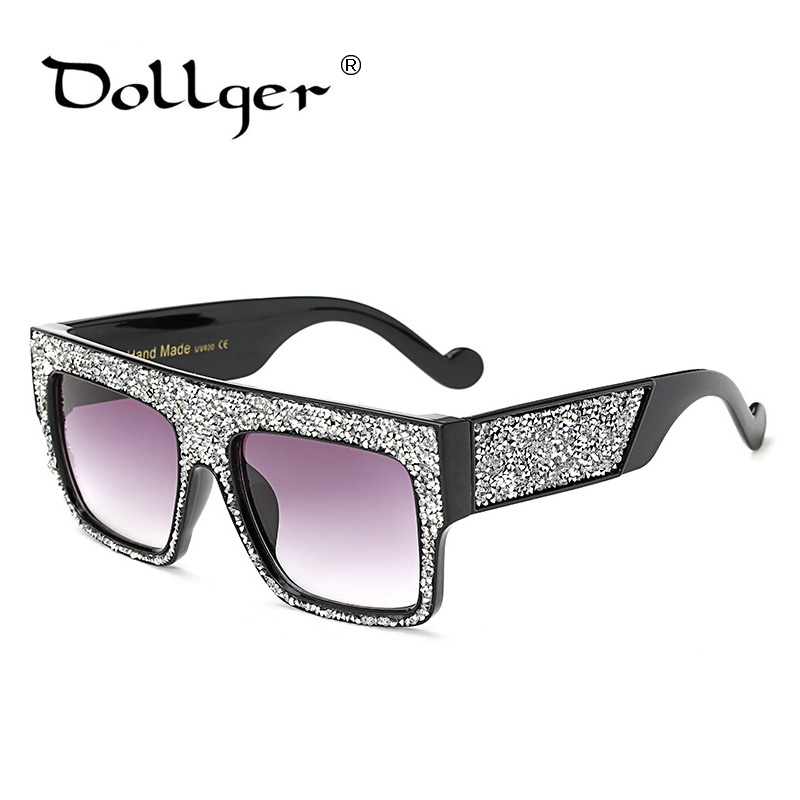 a13156f27450bc Dollger Newest Women Sunglasses Square High custom luxury diamond sunglasses  Big Frame SunGlassesGradient Eyeglasses UV400 s1357