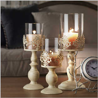 Vintage Home Decor Romantic Wedding Decoration Candle Holders White Candle Holders Tall Glass Candlesticks Metal Crafts