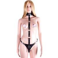 Pu Leather Bdsm Fetish Wear Bondage Body Harnesses Sexy Slaves Female Adult Game Fetish Bondage Leather Erotic Sex Toys