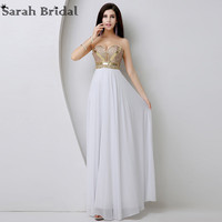 Real Pictures Elegant A Line Sweetheart Sleeveless Long Evening Dresses With Crystals In Stock Vestido De