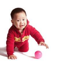 Baby Winter Romper Infant Clothes Hooded Fleece Velvet Overalls for Warm Long Sleeve