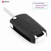 New Remote Key Fob 2 Button 433Mhz PCF7941 For Vauxhall Opel Astra H 2004 2005 2006