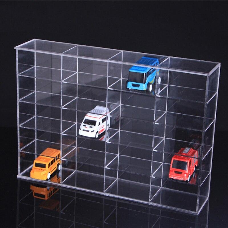 شفافة الاكريليك ماكياج المنظم 20 فتحات لعبة سيارة عرض موقف نموذج عرض الرف المجوهرات تخزين مربع-في حوامل ورفوف التخزين من المنزل والحديقة على  مجموعة 1
