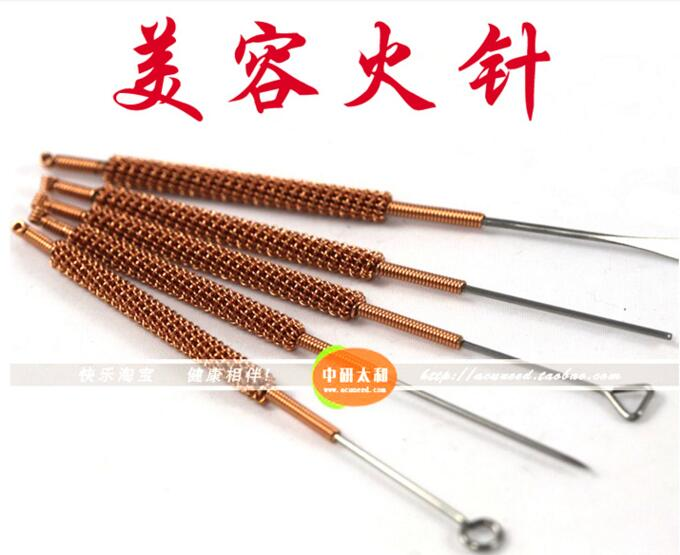 5pieces/set Cosmetology Fire Needles Acupuncture Needle beauty massage needle 100 pcs sterilized acupuncture needles with tube disposable single use acupuncture massage beauty needle skin dermal a252
