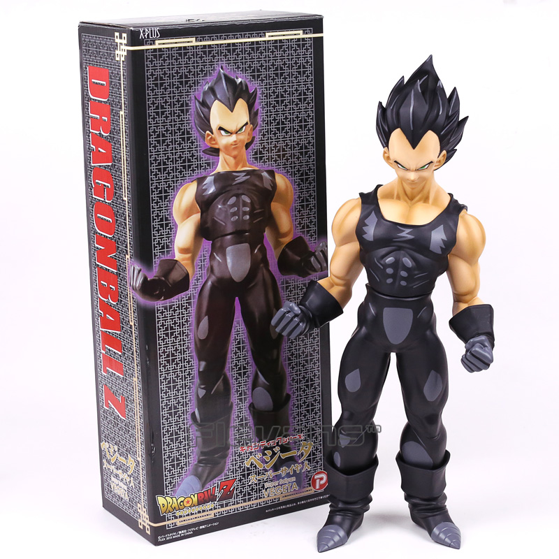 Dragon Ball Z Super Saiyan Vegeta / Trunks Black Super Big Size 44cm / 40cm PVC Action Figure Collectible Model Toy dragon ball z super big size super son goku pvc action figure collectible model toy 28cm kt3936
