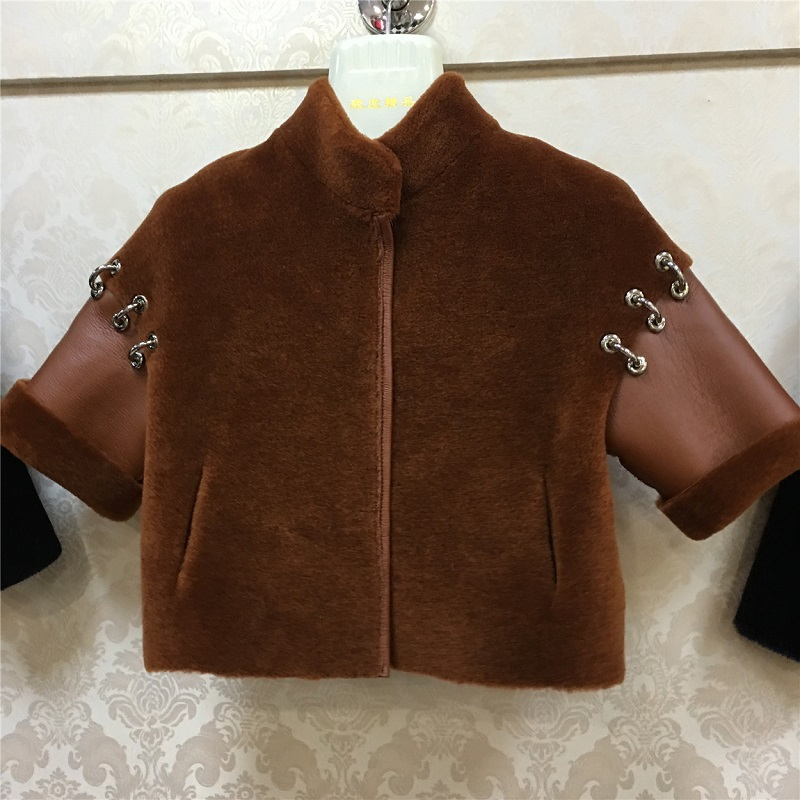 JKP Children's warm long fur coat coat new fur leather natural wool jacket waterproof Korean version fashion Outerwear ZPC-87 цена