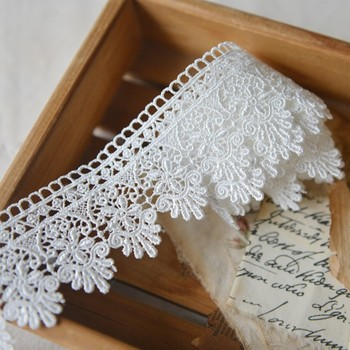 M840 Water - soluble Embroidery Lace Clothing Lace Fabric Materials Vintage Dress Lace Accessories 5.5cm Hot sale 110cm wide wedding dress lace embroidery diy women clothes materials clothing fabric accessories ivory white church happy hour