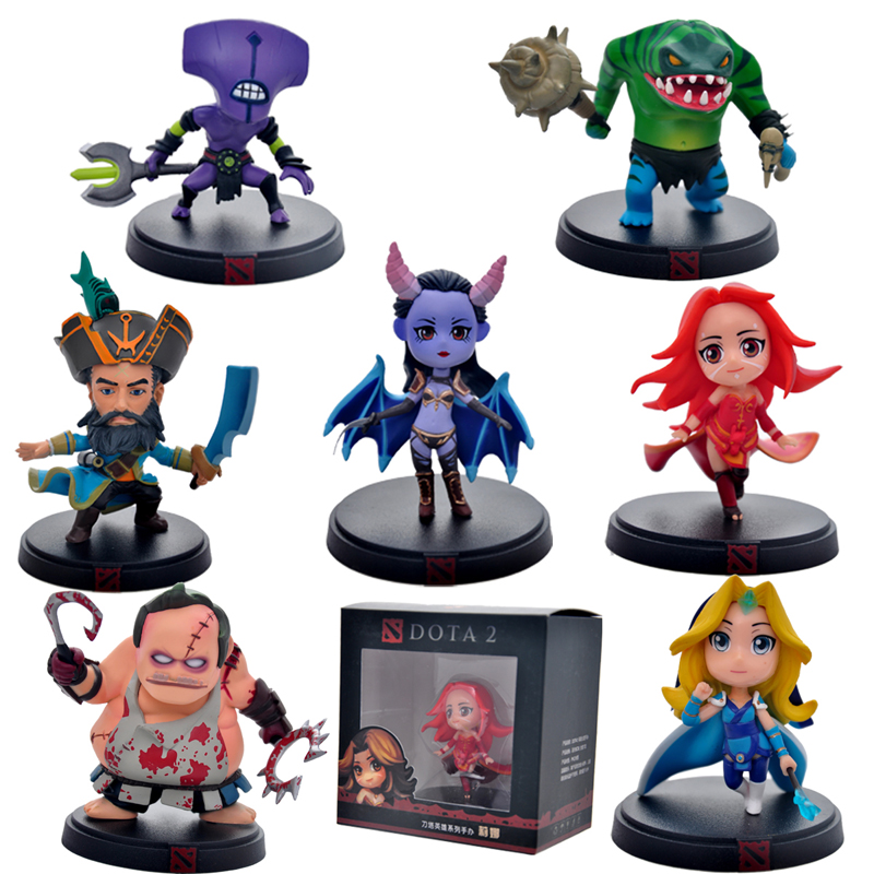 DOTA 2 Kunkka Lina Pudge Queen Tidehunter CM FV Figures Collectible PVC Toys 7pcs/lot wow all styles dota 2 game figure kunkka lina pudge queen tidehunter cm fv pvc action figures collection dota2 toys