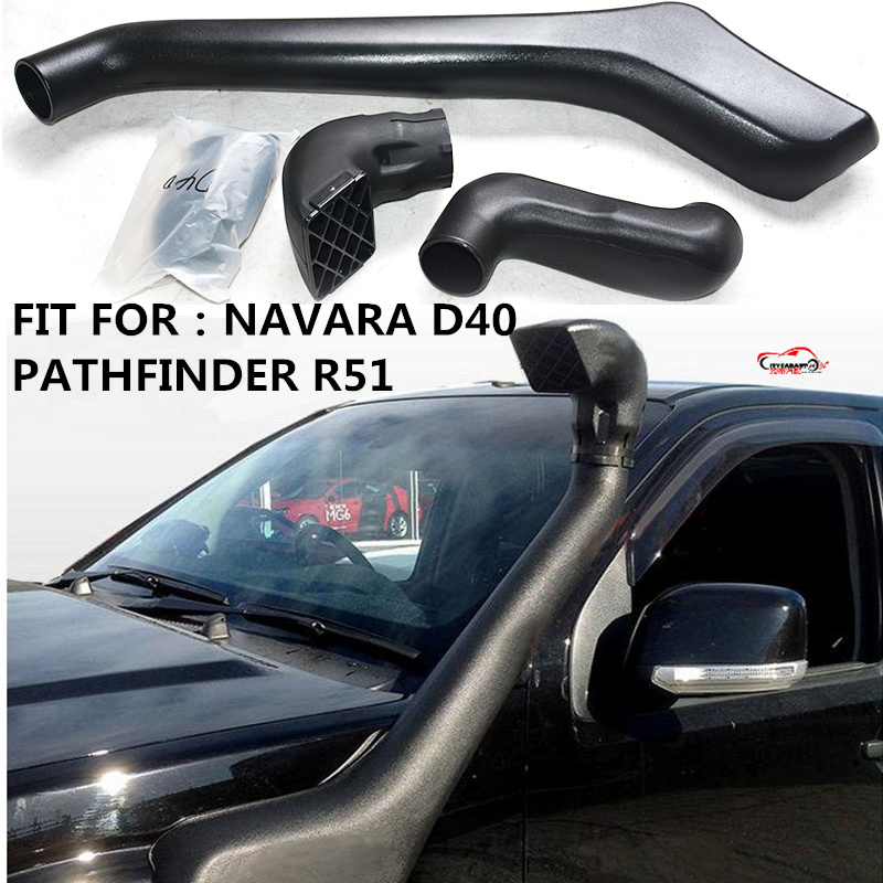 CITYCARAUTO AIR INTAKE SNORKEL KIT AIRFLOW SNORKEL CAR ACCESSROIES FIT FOR NAVARA D40 PATHFINDER R51 for nlssan navara d40