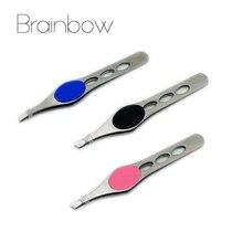 Brainbow face beauty tools пинцет ресниц удаления бровей нержавеющей стали макияж
